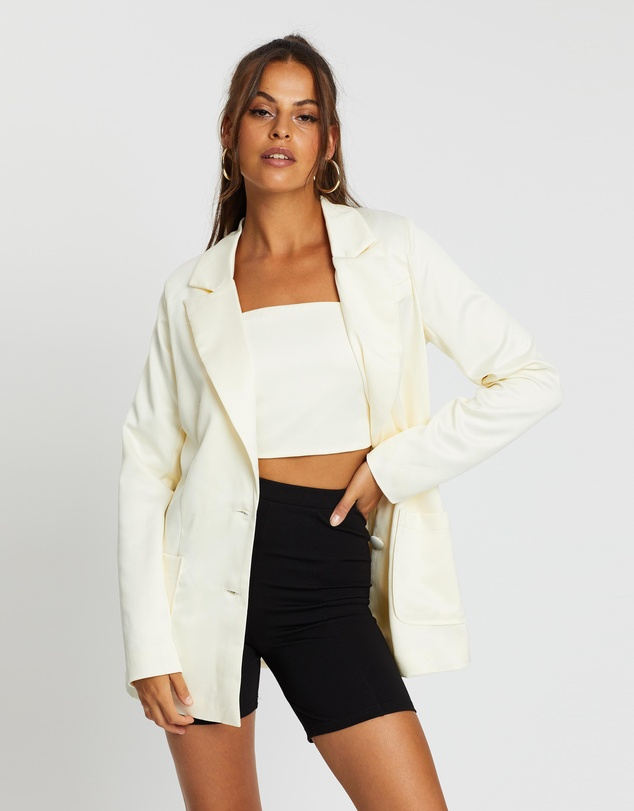 Dazie - All The Feels Satin Blazer