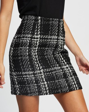 Atmos&Here Lilly Boucle Check Skirt Skirts Black