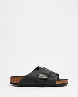 Birkenstock Kyoto - Casual Shoes (Black Nubuck Leather & Birko-Flor Black)