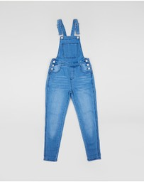 Free by Cotton On - Denim Dungarees - Teens
