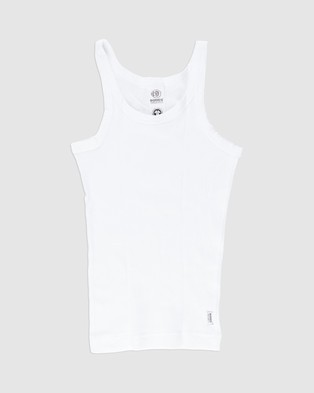 Bonds Kids - Organic Chesty Singlet 2 Pack Teens T-Shirts & Singlets (White) 2-Pack Kids-Teens