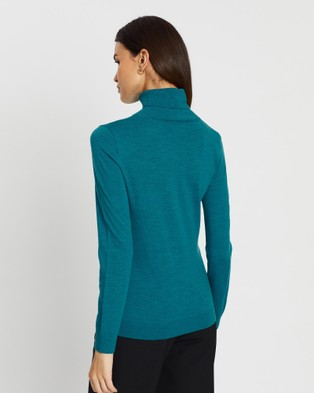 David Lawrence Anita Roll Neck Jumper - Jumpers & Cardigans (TEAL)