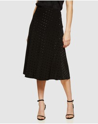 Oxford - Moana Jacquard Spot Skirt