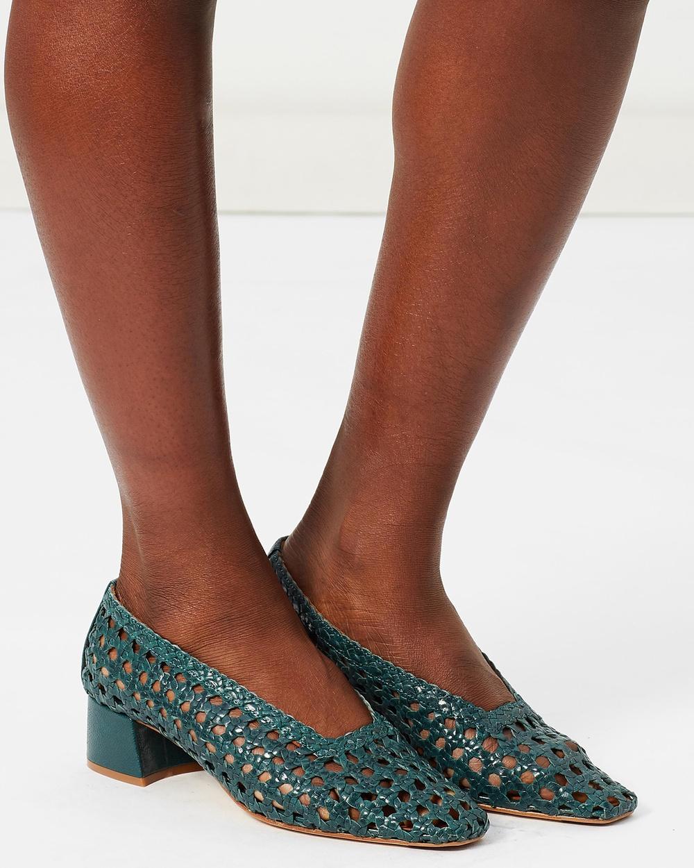 Miista Taissa Mid-low heels Bottle Green Taissa