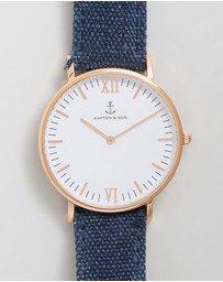 Kapten & Son - Campus Canvas 40mm Watch