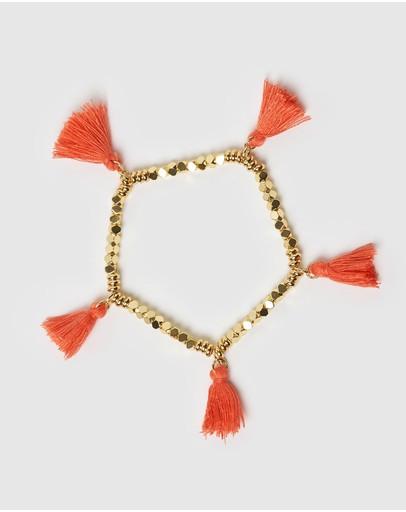 Miz Casa And Co Dreamer Bracelet Gold Coral