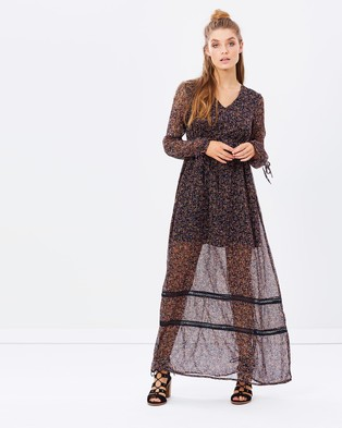 Vero Moda – Long Sleeve Maxi Dress