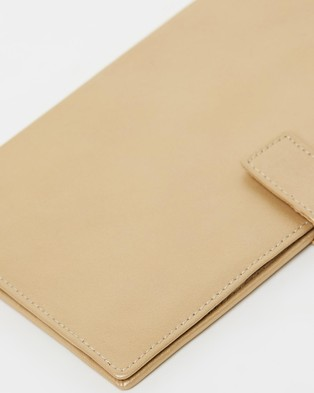 Loop Leather Co Leather Travel Clutch - Travel and Luggage (Soft Gold)