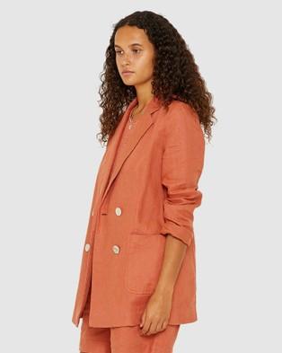 Jag Sarisha Linen Jacket - Blazers (red)