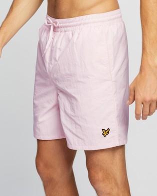 Lyle and Scott Plain Swim Shorts - Swimwear (Strawberry Cream)