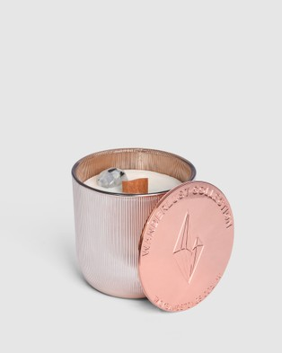 Wicks & Stones Candle with Moonstone - Candles (Copper)