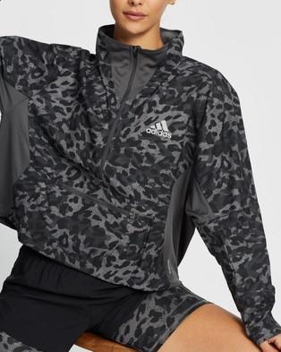 adidas Performance Fast Primeblue 1 2 Zip Jacket - Coats & Jackets (Grey Four & Black)
