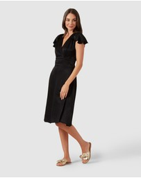 French Connection - V Neck Wrap Dress