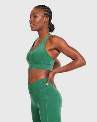 Dharma Bums Wonder Luxe Narrow Back Sports Bra - Sports Bras & Crops (Jade)