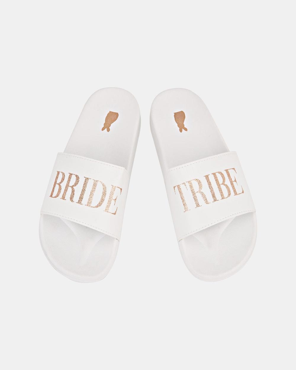 Ann Summers Bride Tribe Sliders Slides White