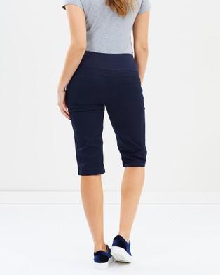 Angel Maternity Maternity Capri Pants - Shorts (Navy)