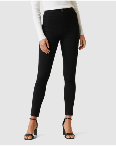 Forever New Madison High Rise Jeggings Black