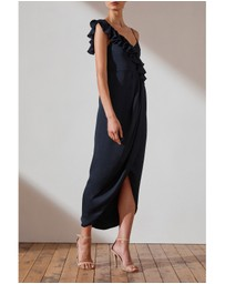 Shona Joy - Asymmetrical Frill Dress