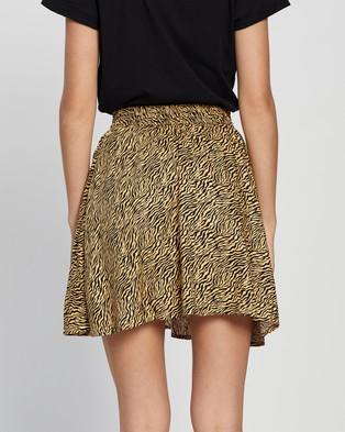 TOPSHOP Tiger Print Mini Skirt - Skirts (Multi)