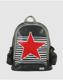 Bobbleart - Large Backpack Star and Stripe