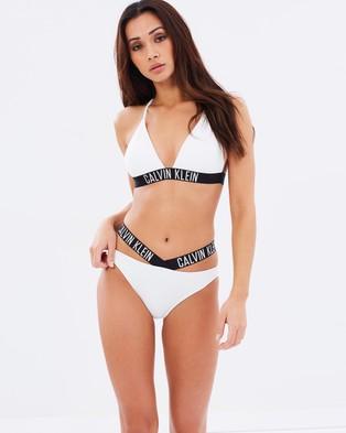 CK Swim – Cross Bikini Bottoms White