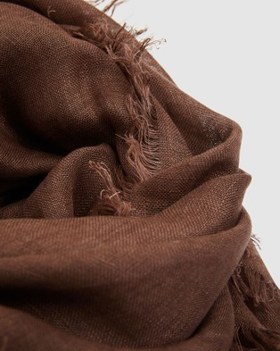 Cloth & Co. Hand Loomed Linen Scarf - Scarves & Gloves (Clove)