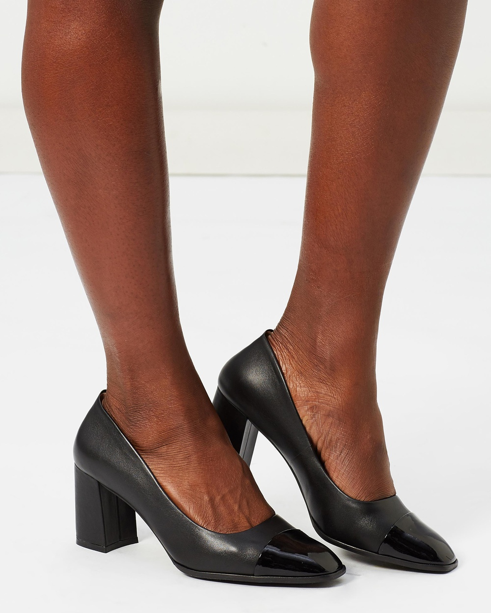 Shoes of Prey ICONIC EXCLUSIVE Vista Leather Pumps All Pumps Black Leather ICONIC EXCLUSIVE Vista Leather Pumps