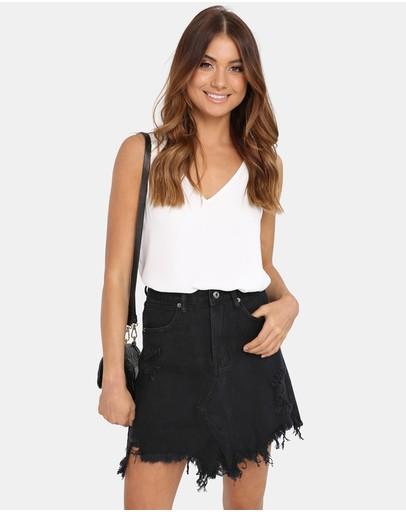 83dff2cd5a Black Denim Skirt | Buy Denim Skirts Online Australia- THE ICONIC