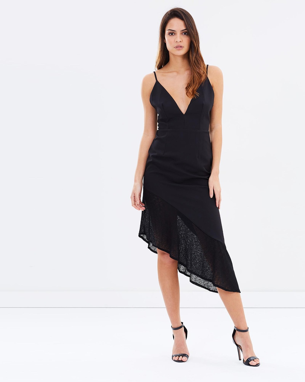 DELPHINE Treading Water Midi Dress Dresses Black Treading Water Midi Dress
