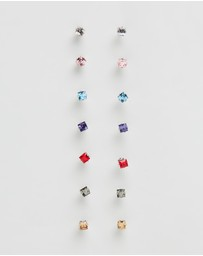 Mestige Kids - Princess Everyday Earrings 7-Pack With Swarovski Crystals