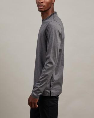 BOSS Tenison Long Sleeve Tee - T-Shirts & Singlets (Medium Grey)