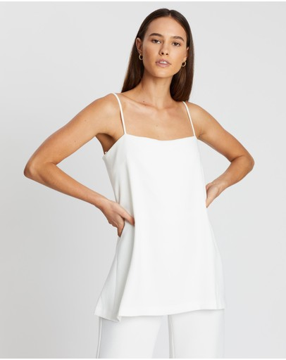Third Form Double Up Jumpsuit White