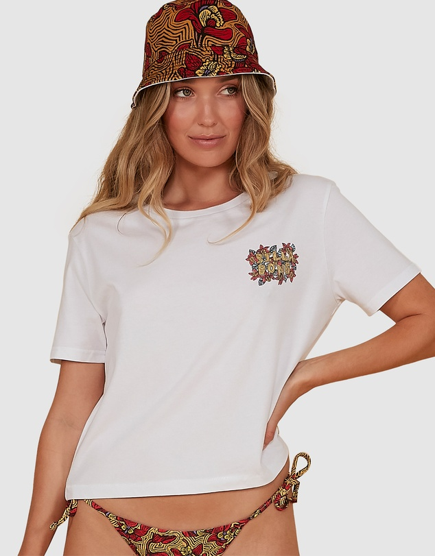 Billabong - White Sand Crop Tee