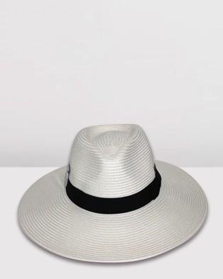 BeforeDark Fiona Wide Brim Fedora - Hats (Ivory)