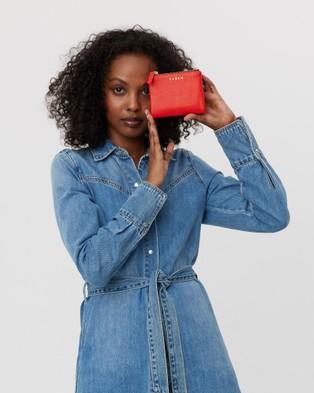 Saben Delilah Small Leather Bifold Wallet - Wallets (Scarlet)