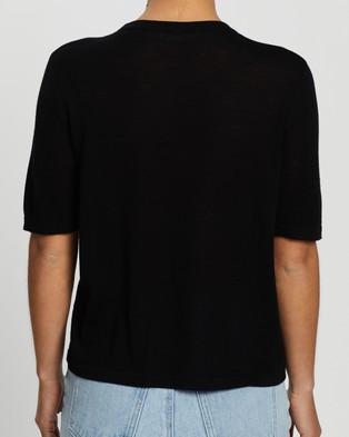 Assembly Label Lightweight Wool Knit Tee - T-Shirts & Singlets (Black)