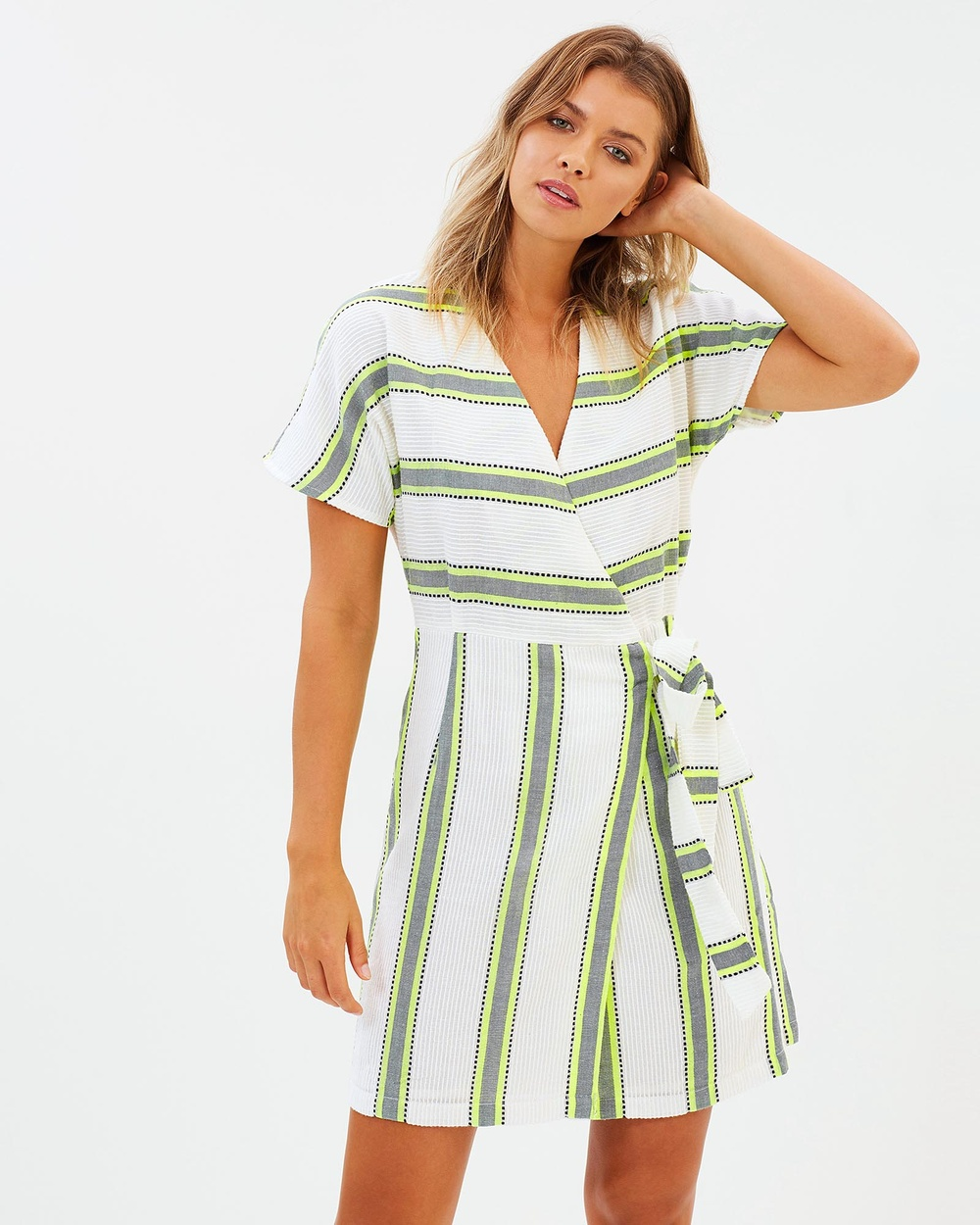 Solito Neon Dawn Wrap Dress Dresses Neon Neon Dawn Wrap Dress