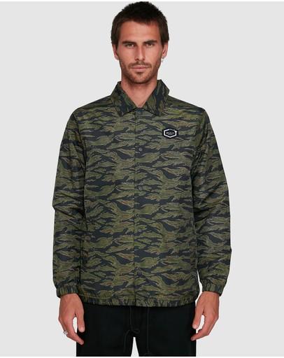 Rvca Jungle Camo Coaches Jacket
