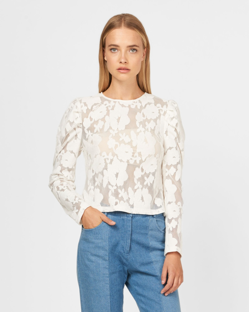 MVN Winter Wonderland Top Tops White Winter Wonderland Top