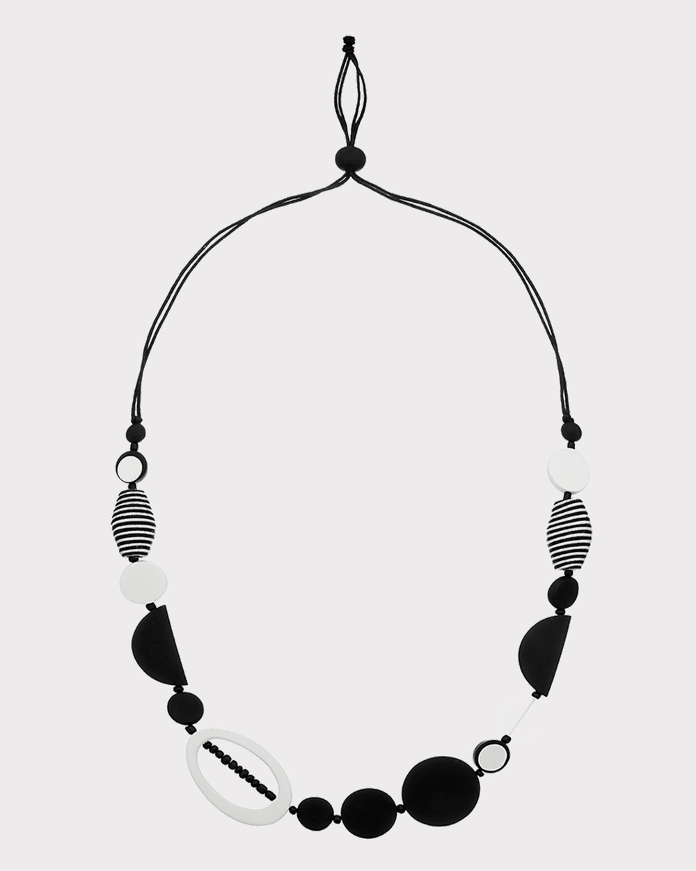 Florence Broadhurst Turnabouts Abstract Adjustable Necklace Jewellery Black/White