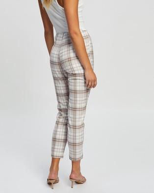 Atmos&Here Benita Check Pants - Pants (Mauve Check)