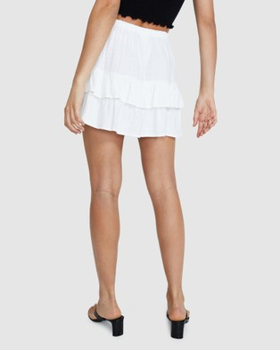 Dont Ask Amanda Lola Ruffle Skirt - Skirts (WHITE)