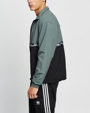 adidas Originals Slice Trefoil Track Top - Coats & Jackets (Black & Blue Oxide)