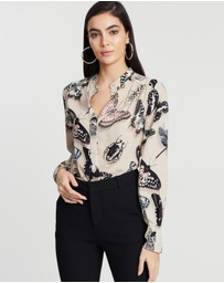 REISS - Nouela Butterfly Printed Shirt