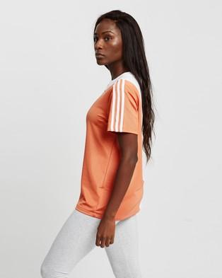 adidas Originals - Loose Tee Short Sleeve T-Shirts (White & Hazy Copper)