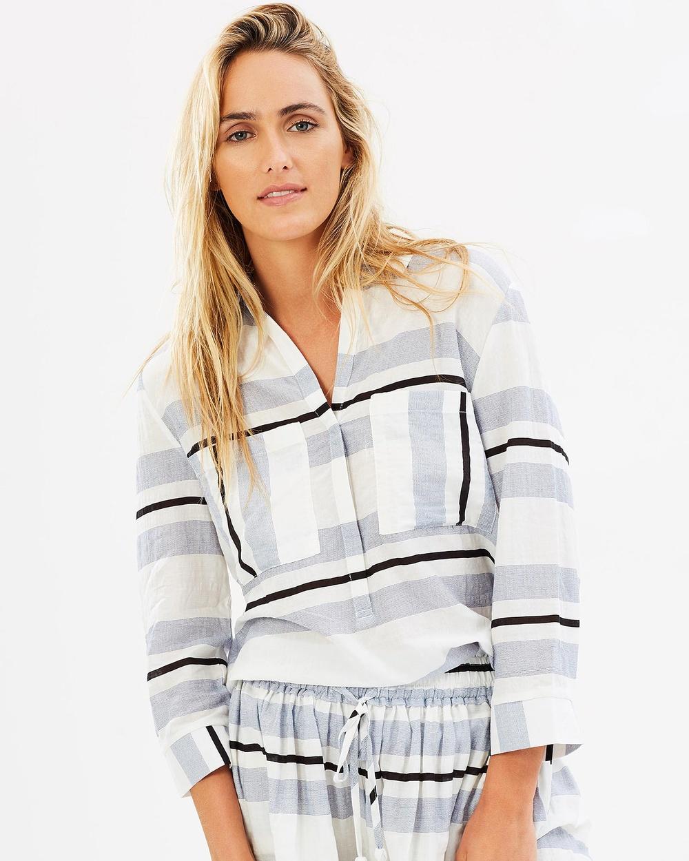 Elwood Dahlia Shirt Stripe Tops Stripe Dahlia Shirt Stripe