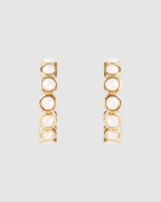 FAIRLEY Crystal Pearl Hoops - Jewellery (Gold)