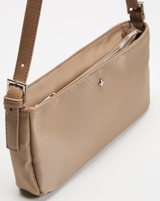 PETA AND JAIN Patience Shoulder Bag - Clutches (Cappucino Nylon)