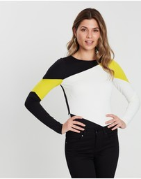 Karen Millen - Colourblock Slim-Fit Top