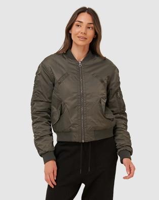 Superdry Flight Bomber Jacket - Coats & Jackets (Dark Moss)